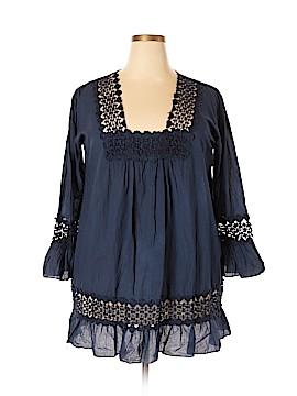 S.R. Fashion 3/4 Sleeve Blouse Size XXL