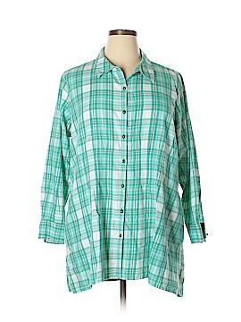 Joan Rivers Long Sleeve Button-Down Shirt Size 1X (Plus)