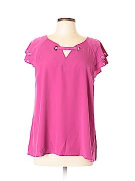 Kate & Mallory designs Short Sleeve Blouse Size L