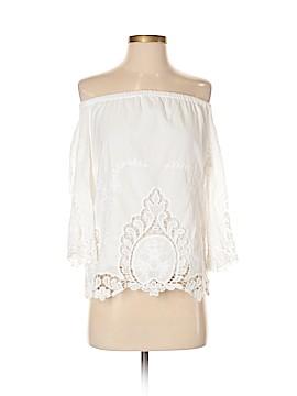 Cynthia Rowley TJX 3/4 Sleeve Blouse Size S