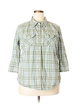 Carhartt 3/4 Sleeve Button-Down Shirt Size XXL