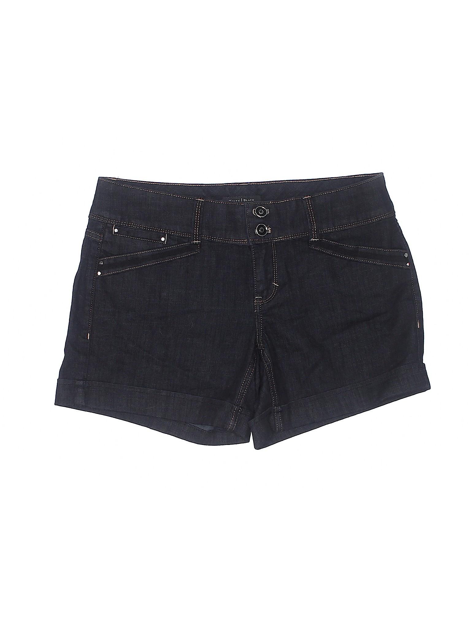 Market Boutique Black Shorts White Denim House wYw1qv7p