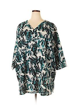 Ulla Popken 3/4 Sleeve Blouse Size 24 - 26 (Plus)