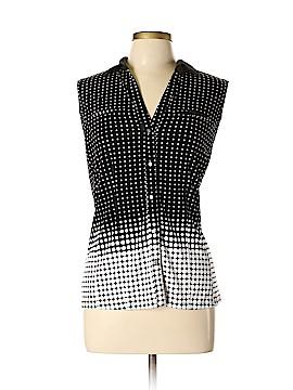 7th Avenue Design Studio New York & Company Sleeveless Button-Down Shirt Size L