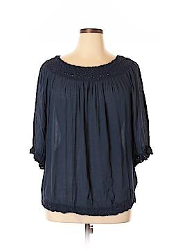 Sharagano 3/4 Sleeve Blouse Size 3X (Plus)