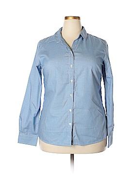 Clique Long Sleeve Button-Down Shirt Size XXL