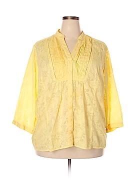 JM Collection Long Sleeve Blouse Size 20 (Plus)