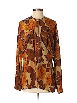 Escada Long Sleeve Silk Top Size 36 (EU)