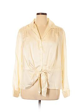 Jones New York Collection Long Sleeve Silk Top Size 18 (Plus)