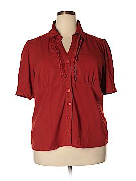 Jennifer Lauren Short Sleeve Button-Down Shirt Size XXL