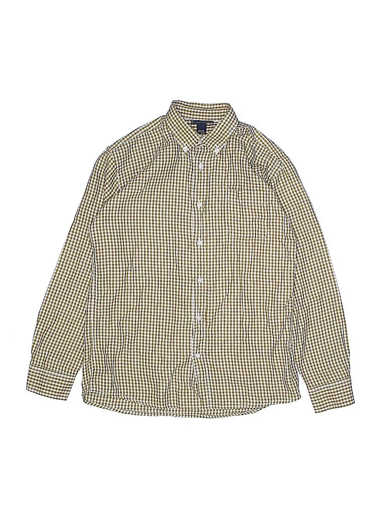 Oscar De La Renta Boys Long Sleeve Button-Down Shirt Size 12