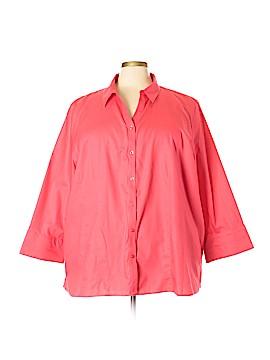 White House Black Market Long Sleeve Button-Down Shirt Size 4X (Plus)