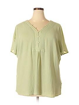 Soft by Avenue Short Sleeve Blouse Size 28 (Plus)