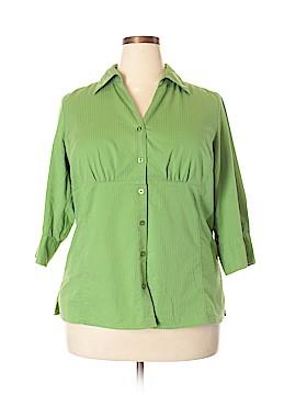 Studio 1940 3/4 Sleeve Button-Down Shirt Size 18 - 20W (Plus)