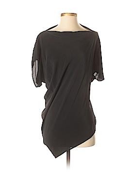 All Saints Short Sleeve Silk Top Size 4