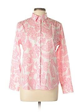Lands' End Long Sleeve Button-Down Shirt Size 10 (Petite)
