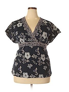 Papillon Short Sleeve Blouse Size 3X (Plus)