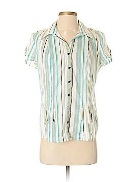 Fashion Bug Short Sleeve Button-Down Shirt Size S