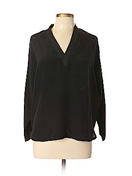 Sandro Long Sleeve Silk Top Size Lg (3)
