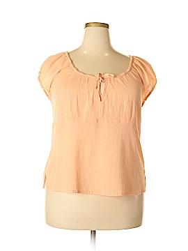 SONOMA life + style Short Sleeve Blouse Size 1X (Plus)