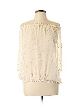 Julie Brown 3/4 Sleeve Silk Top Size 10