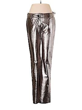 D&G Dolce & Gabbana Leather Pants Size 42 (IT)