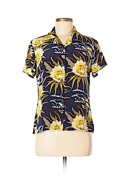 Avanti Short Sleeve Silk Top Size M