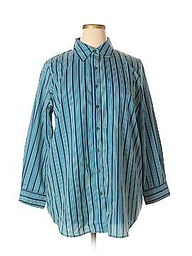 Roaman's Long Sleeve Button-Down Shirt Size 18 (L) (Plus)