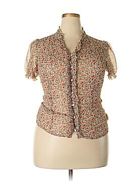 H&M Short Sleeve Blouse Size 16