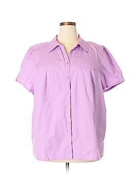 Liz & Me Short Sleeve Button-Down Shirt Size 3X (Plus)