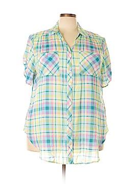 Intro Short Sleeve Blouse Size 3X (Plus)