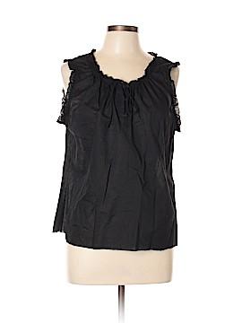 Sunny Leigh Sleeveless Button-Down Shirt Size XL