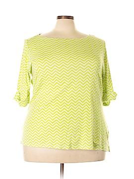 Kim Rogers Signature 3/4 Sleeve Top Size 3X (Plus)