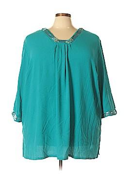 Maggie Barnes 3/4 Sleeve Top Size 4X (Plus)