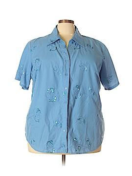 Kim Rogers Short Sleeve Button-Down Shirt Size 3X (Plus)