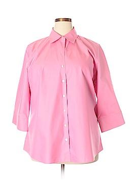 Eddie Bauer 3/4 Sleeve Button-Down Shirt Size 2X (Plus)