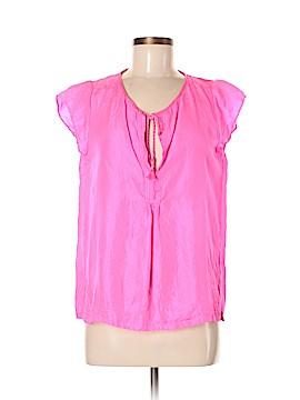 Calypso St. Barth Short Sleeve Silk Top Size M
