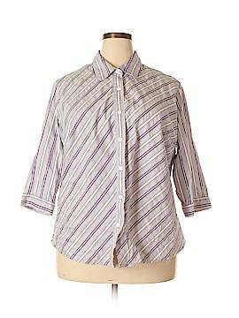 Covington 3/4 Sleeve Button-Down Shirt Size 22 (Plus)