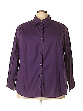 JMS Collection Long Sleeve Button-Down Shirt Size 4X (Plus)