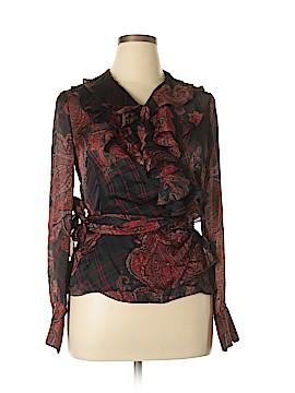 Ralph Lauren Long Sleeve Silk Top Size L