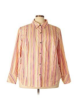 Liz Claiborne Long Sleeve Button-Down Shirt Size 22 (Plus)