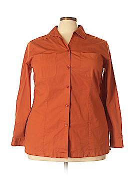 Covington Outlet Long Sleeve Button-Down Shirt Size 22 (Plus)