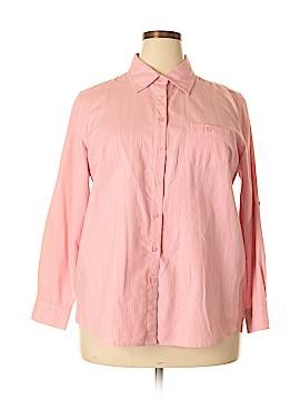 Fashion Bug Long Sleeve Button-Down Shirt Size 18 - 20w (Plus)