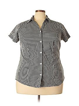 Liz Claiborne Short Sleeve Button-Down Shirt Size 2X (Plus)