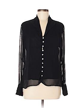 Whitewash Long Sleeve Blouse Size M