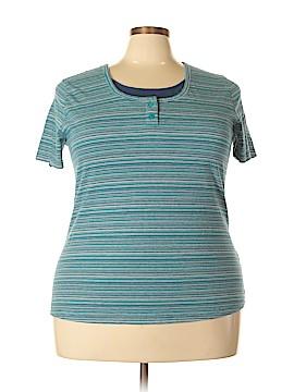 Bobbie Brooks Short Sleeve Henley Size 2X (Plus)