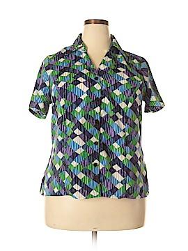 Elementz Short Sleeve Button-Down Shirt Size 1X (Plus)