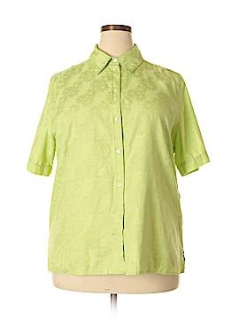 Alia Short Sleeve Button-Down Shirt Size 18 (Plus)