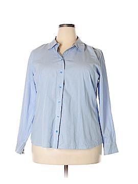 Basic Editions Long Sleeve Button-Down Shirt Size XXL