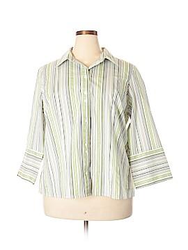 Studio 1940 3/4 Sleeve Button-Down Shirt Size 22 - 24 (Plus)